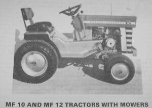 Massey Ferguson Mf 10 12 Mf10 Mf12 Service Manual Lawn Garden Tractor Ebay