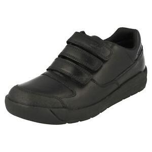 Flare Adhesivo Informales Cierre Clarks Zapatos Triple Niño Escolares Lite Cuero SqZwaS