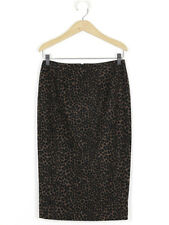 Hobbs Womens Brown Spot Felt Skirt Size 8