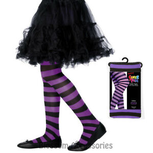 A879-Black-Purple-Striped-Costume-Tights-Stockings-Witch-Halloween-Accessories