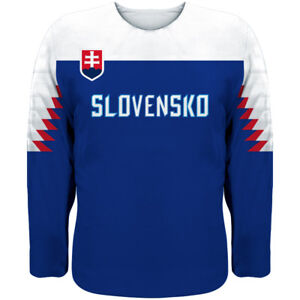 Image is loading NEW-Team-Slovakia-2019-World-Championship-Hockey-Jersey- e63df96ee