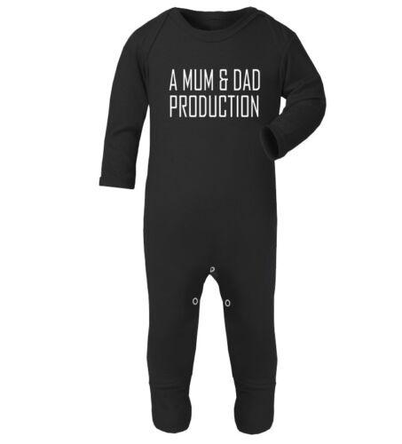 A Mum and Dad Production cute funny romper suit bodysuit jump suit
