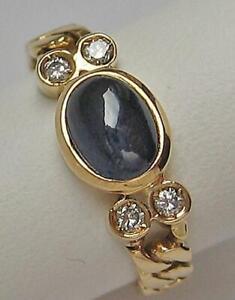 Kettenring-mit-Safir-und-Brillanten-Diamanten-0-08-ct-18-Kt-750-Gold-Gr-48