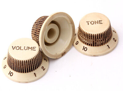 """Aged ST Knobs  /""""True to Vintage/"""" for Strat®/""""Art of Aging/"""" Series Europe No/'1"""