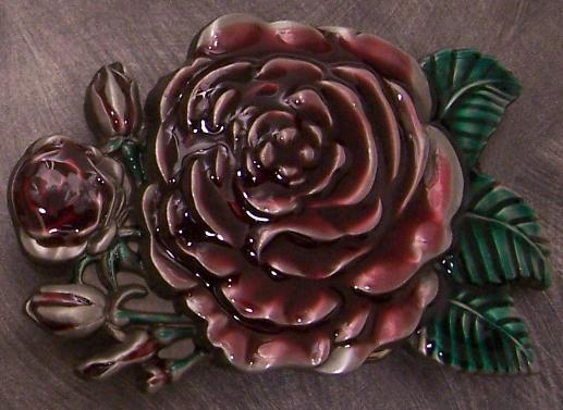 Pewter Belt Buckle novelty Rose in Bloom NEW
