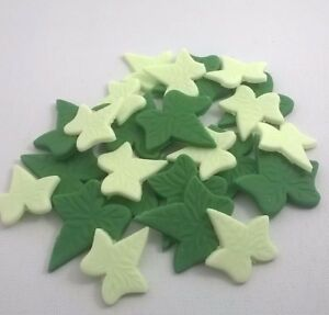 24-EDIBLE-IVY-LEAVES-IN-2-SIZES-AND-COLORS-cupcake-flowers-sugar-paste
