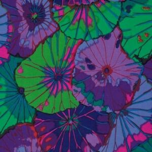 Kaffe-Fassett-Lotus-Leaf-PWGP029-Purple-Fabric-Spring-2015-Collection-BTY