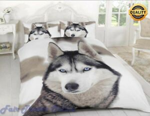 3D-WOLF-LUXURY-PRINTED-DUVET-QUILT-COVER-BEDDING-SET-PILLOW-CASE-ALL-SIZES
