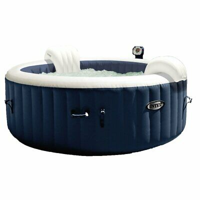 Intex 28405E PureSpa 4 Person Home Inflatable Portable Heated Bubble Hot Tub