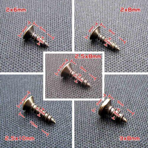 100x Phillips Flat Countersunk Head Self Tapping Screw 2x6 2.5x8 3x10mm M1139 QL
