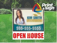 3 Open House Riders 6 X 24 Real Estate Sign 2 Sided Outdoor Coroplast Free Ship