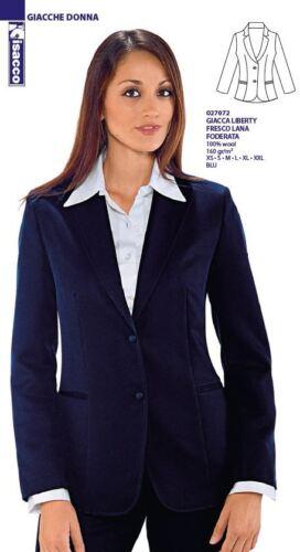 072 Cod Blu Giacca Hoste Receptionist 027 Isacco Fresco Liberty in foderata Donna lana qvxFH47wq