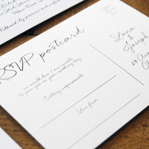 Hand lettered style Love Letter Luxury Calligraphy Wedding Invitation