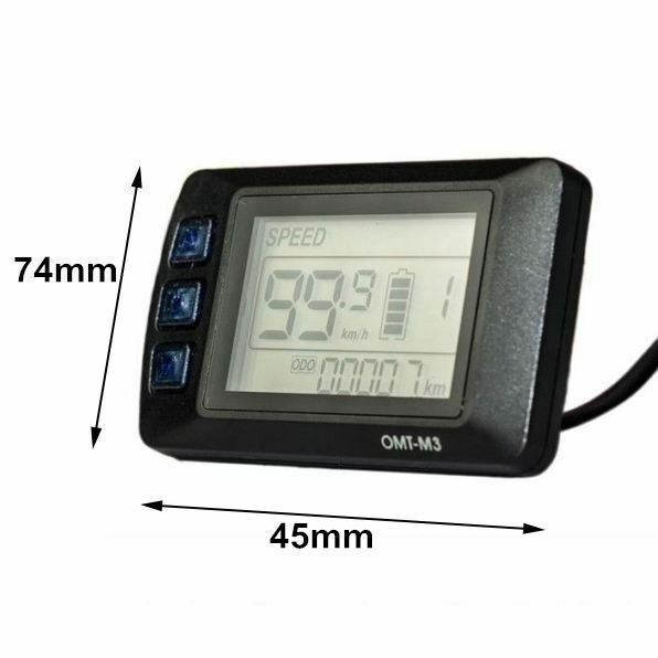 2019 OMT-M3 48V LCD Display Meter//Control Panel for eBike Electric Bicycle