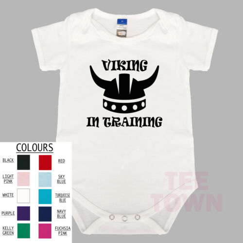 BabyGrow Baby Romper Funny Cute Baby Suit. Viking In Training
