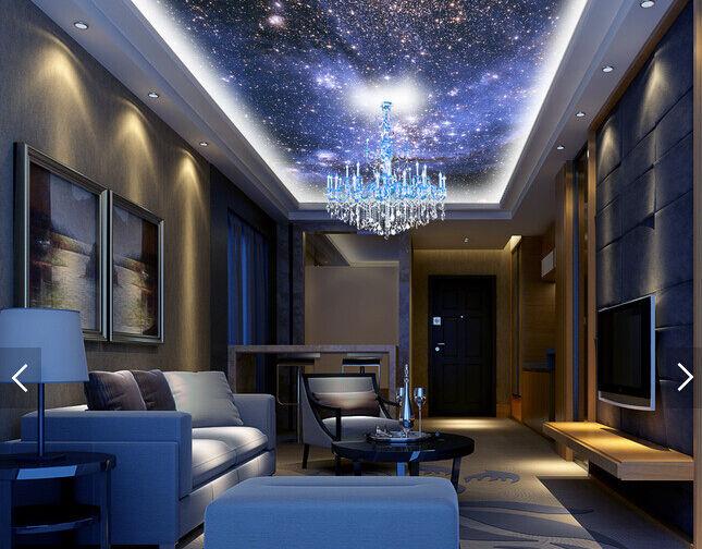 3D Shining Stars  82 Ceiling WallPaper Murals Wall Print Decal Deco AJ WALLPAPER