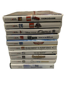 Lot-of-10-Nintendo-3DS-Game-Complete-W-games-And-Manuals-LEGO-Yo-Kai-Etc