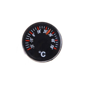 3x Diameter 20mm Plastic Round Mini Thermometer Celsius hydrothermogra HF