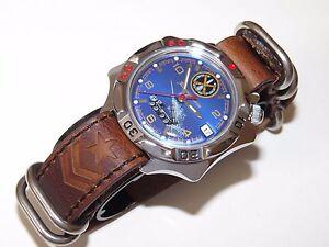 Russian-Mechanical-Men-s-Watch-VOSTOK-KOMANDIRSKIE-Genuine-Leather-539772