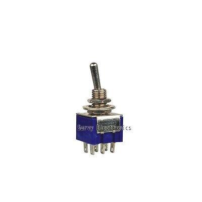 2Pcs 6-Pin SPDT ON-ON Toggle Switch 6A 125V AC