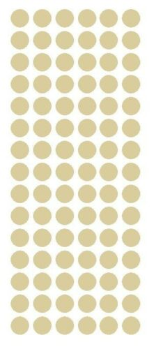 """1//2/"""" BEIGE TAN Round Vinyl Color Coded Inventory Label Dots Stickers USA MADE"""