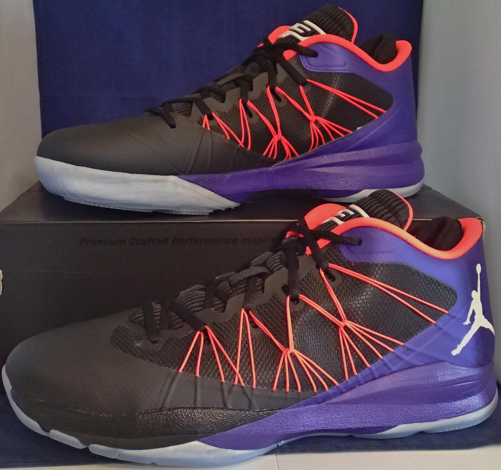 2018 Nike Air Jordan CP3.VII 7 AE Black Dark Concord Infrared SZ 14 (644805-053)