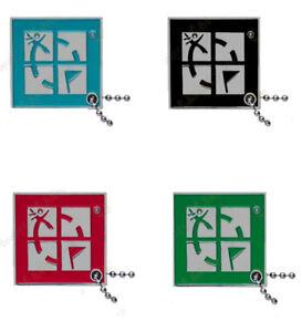 Groundspeak-Logo-Traveltag-von-Bom-4-Set-Travelbug-trackable-Nummer-Geocaching
