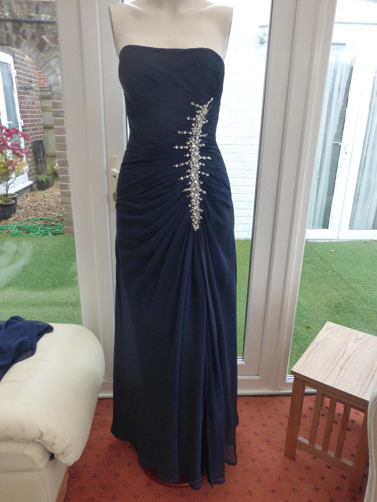 Prom Dress Ballgown Bridesmaid Navy Blau Größe 6 Excellent Condition Cost