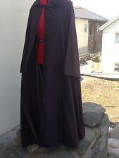 Oversize marrone scuro con cappuccio mantello con maniche. più COLORI COSPLAY