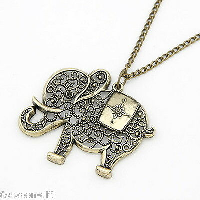 Gift Fashion Elephant Animal Chain Pendant Necklace For Women