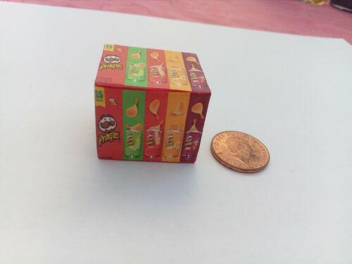 Escala 1//12 Caixa vazia Pringles Crisps Catacombs Display Miniaturas **