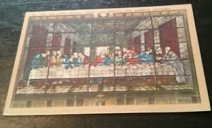 Vintage-CALIFORNIA-postcard-The-Last-Supper-Forest-Lawn-Park-Glendale-CA-1930s