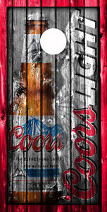 VINYL WRAP Cornhole Boards DECAL Vintage Coors Beer Cans Single Decal