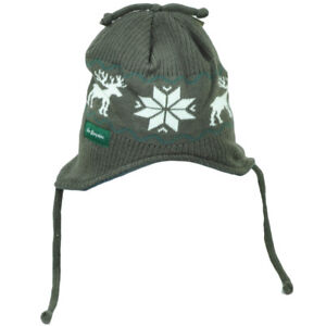 5780ca086e7 New Hampshire State USA Nordic Print Knit Beanie Ear Flap Hat Winter ...