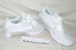 Details about Women's Nike Air Max 90 Ultra Breath CHOOSE SIZE 725061 104 Triple Whiteout