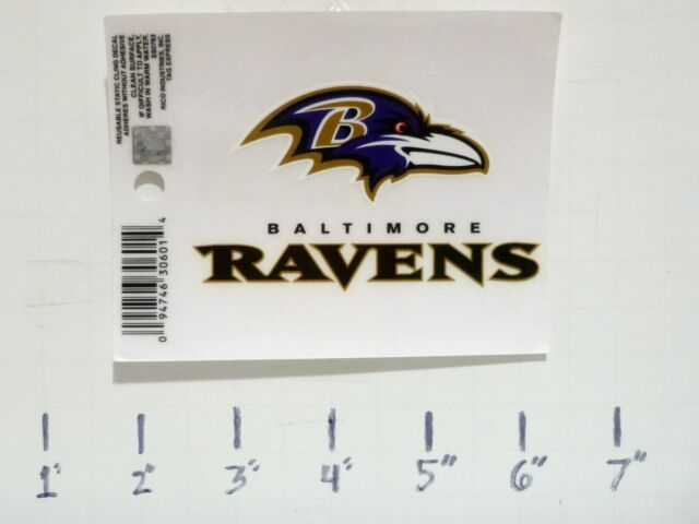 276dbd49 Baltimore Ravens 4x3 Small Static Cling Decal NFL Rico