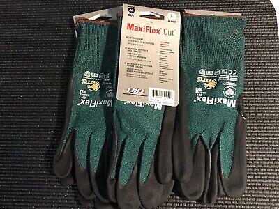 Cut Resistant Gloves Green  3 pairs Maxiflex 34-8743// xl