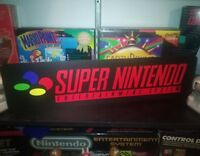 """Super Nintendo Display, Aluminum Sign, 6"""" x 24"""". SNES!"""