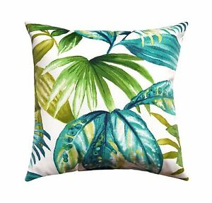 20 Aqua Teal Green Outdoor Throw Pillow Seneca Caribe Tropical