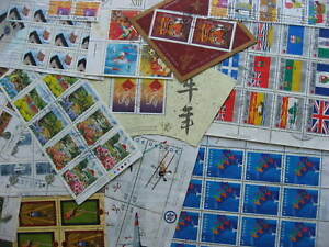 Canada-used-blocks-sheets-etc-interesting-group-mixed-condition