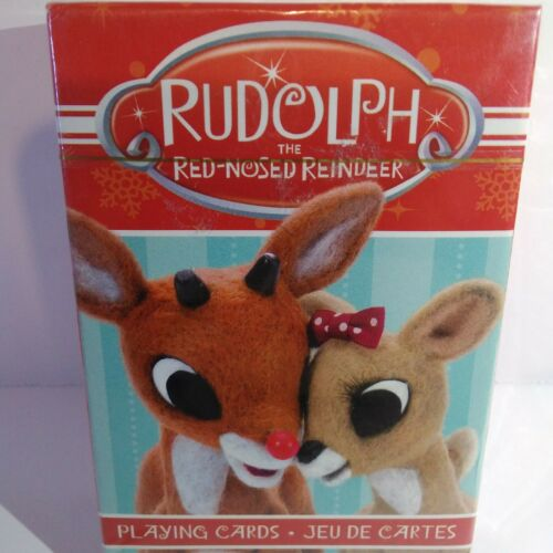 Deck of Rudolph The Red Nose Reindeer Christmas Playing Cards New Sealed