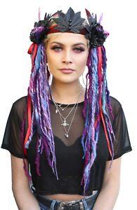Purple-Black-Flower-Rave-Psytrance-Dread-Hippy-Festival-Fairy-Headdress