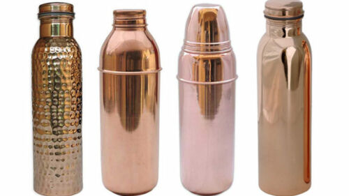100/% Copper Bottle Water Storage For Health Benefits Multiple Choices FreeShiped