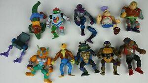 Vintage-Lot-of-10-Teenage-Mutant-Ninja-Turtles-Mirage-Studios-Playmates-See-Det