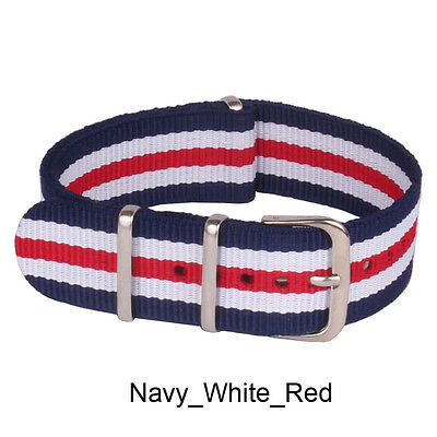 Nato 18mm Nylon Military Army Fiber Watches Gift Straps Wristwatch Band Buckle