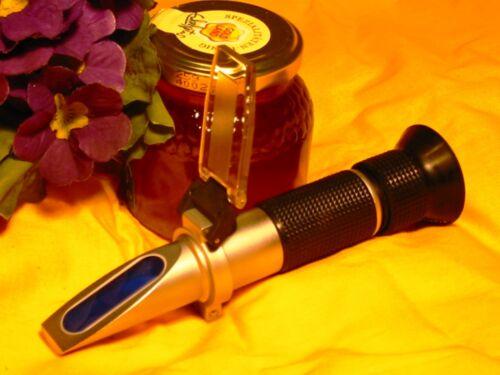Imker-Refraktometer 12-30/% Honigfeuchte //leichte Kalibrierung// mit ATC