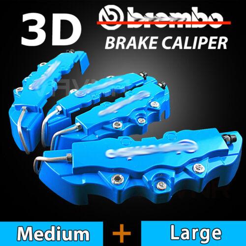 New 4pcs Blue 3D Disc Brake Caliper Cover Kit For BMW X1 X2 X3 X4 M2 M3 M4 M5 Z4