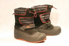 Totes Boots Boys 3 Medium Youth Black Red Gray Camo Insulated Snow Winter Shoes