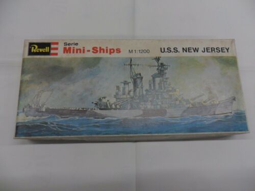 NEW JERSEY    1:1200   SERIE H-2407  MODEL KIT REVELL  MINI-SHIP  U.S.S