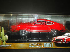 Greenlight Ford Mustang II Mach 1 1976 Red and Black 1/18